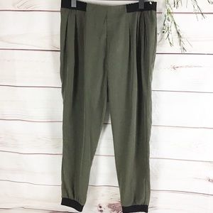 Barney's New York Olive Green with Black Joggers